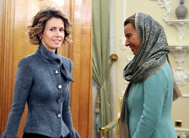 First Lady Assad & Mogherini